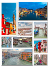 Collage of Venice travel images