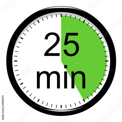 Minuterie 25 minutes photo libre de droits sur la - Minuteur 2 minutes ...
