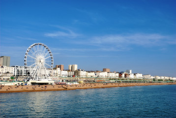 Panoramic View Brighton Beachfront