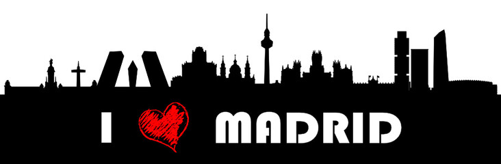 I love Madrid - Skyline