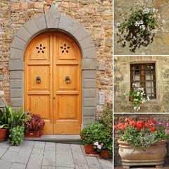 front door collage