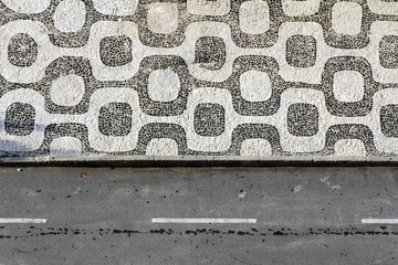 Background of Ipanema Sidewalk