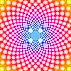 Wall Murals Psychedelic Ring optical illusion (Vector EPS)