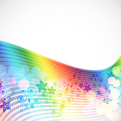 abstract spectrum floral background