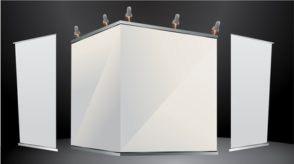 Blank stand for your ad and Roll up banner
