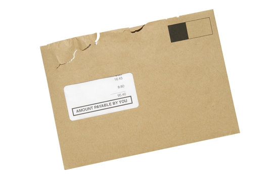 Envelope containing a bill