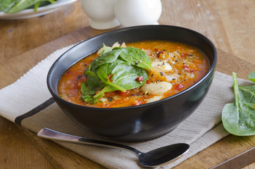 Butter bean and chorizo soup