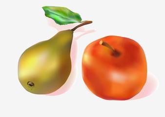 apple. pear