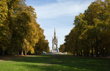 Albert memorial. Hyde park. London