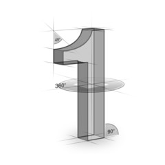 Geometrie, Zeichen, Zahl
