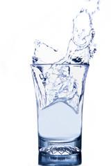Glass of water splash