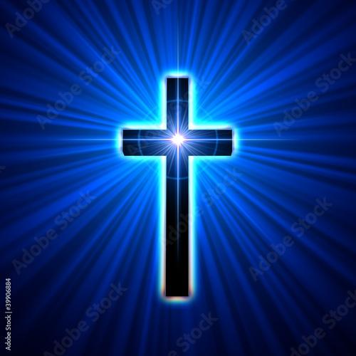 Fototapete glowing cross