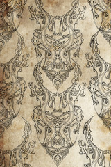 Wall Mural - Tattoo pattern with Celtic fret