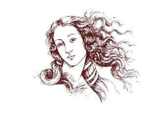 birth of Venus Botticelli detail