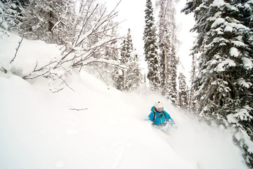Fototapete - Freeride in Siberia
