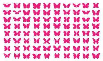 Lots of butterflies - [80 Pink Butterflies]