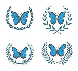wreaths & butterfly