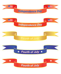 set of Independence Day banners vector illustration