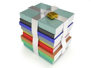 Stack of books locked