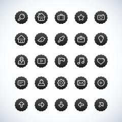 Vintage Black Icon Set