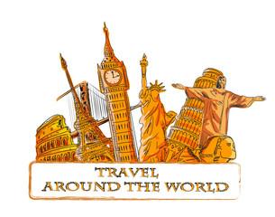 Путешествуйте по всему миру, фон