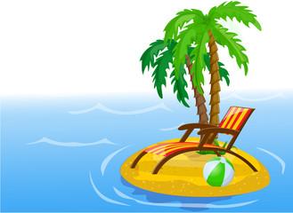 Путешествия фоне пальм, мяч, гостиной