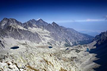 High mountain range landscape, nature