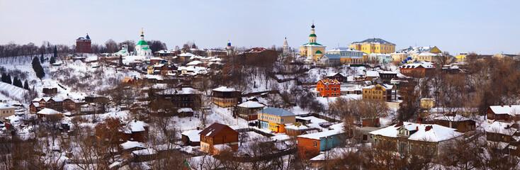 Panoramic of historical district at Vladimir