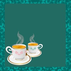 tea cups background