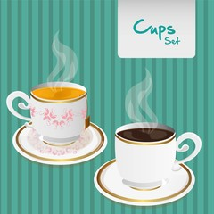 coffee and tea cups