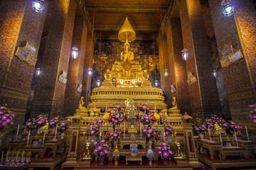 Buddha Statues in wat pho, bangkok, thailand