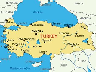Republic of Turkey - vector map