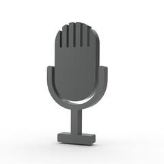 3d Icon Mikrophon schwarz