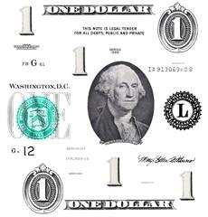 set of original detail 1 $ dollar, with Washington