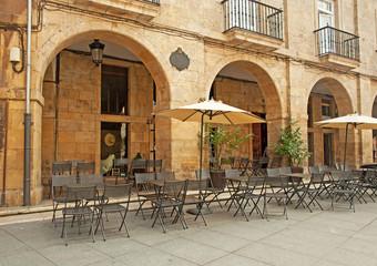 Restaurant in the square in Spain