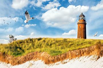Fototapete - Leuchtturm Prerow