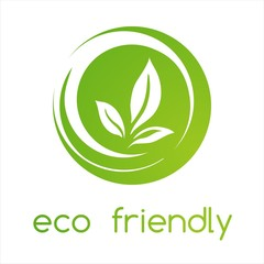leaves ,Green Eco friendly business logo design