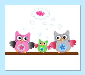 little sweet owls family
