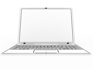 Drawing a laptop on a white background №3