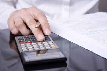 Obraz rachunek biuro - fototapety do salonu