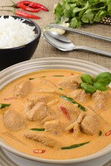 Kaeng Phet Gai- Thai Red Chicken Curry & Jasmine Rice