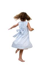 Little girl spinning