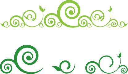 swirl floral border