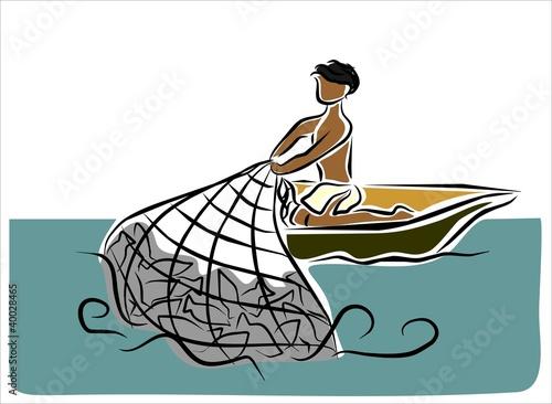 """Dibujos Para Colorear Un Pescador: """"pescador"""" Imágenes De Archivo Y Vectores Libres De"""