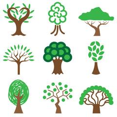 tree icons vector set