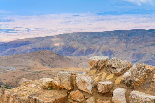 view from Mount Nebo in Jordan