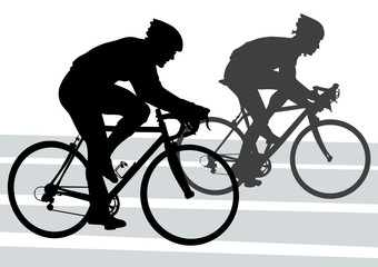 Wall Mural - Silhouette cyclist