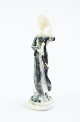 a lady sculpture made from marble