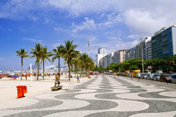 view of Copacabana beach. Rio de Janeiro