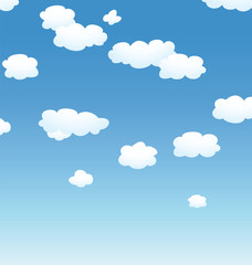 Photo sur Aluminium Ciel vector background with clouds in the sky